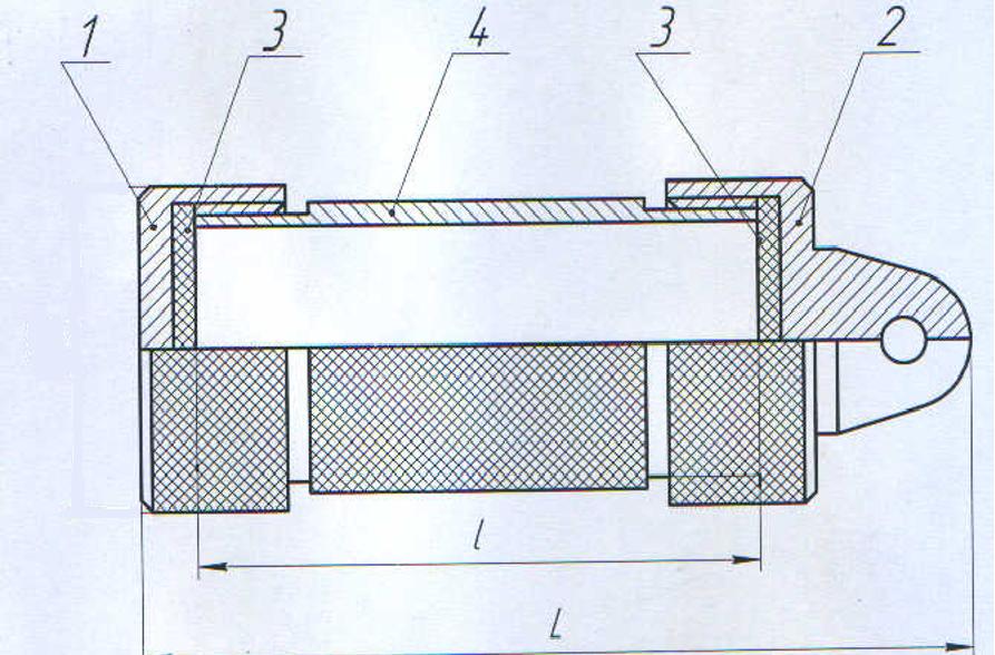 Схематичное изображение герметичного контейнера.